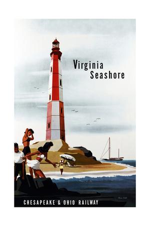 Virginia Seashore Giclee Print by Bern Hill