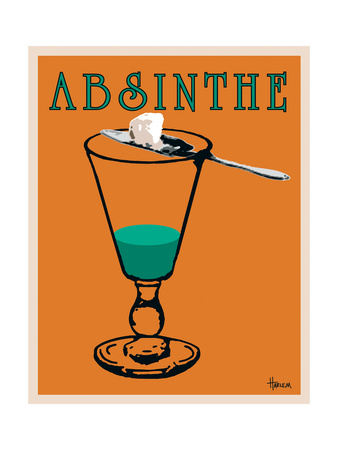 Absinthe Metal Print by Lee Harlem
