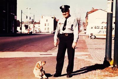 Suzie the Railroad Dog Photographic Print