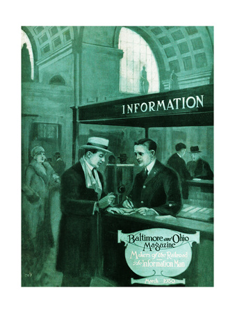 The Information Man Giclee Print by Charles H. Dickson