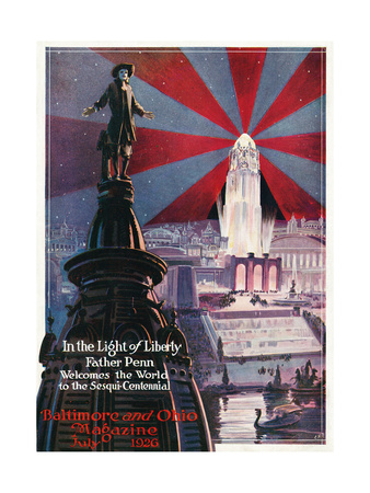 In the Light of Liberty 1926 Giclee Print by Charles H. Dickson