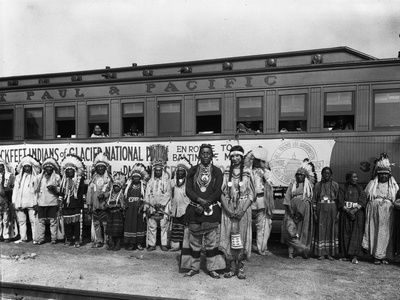 The Blackfeet Indians from Glacier National Park Photographic Print