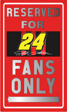 Jeff Gordon Sign Tin Sign