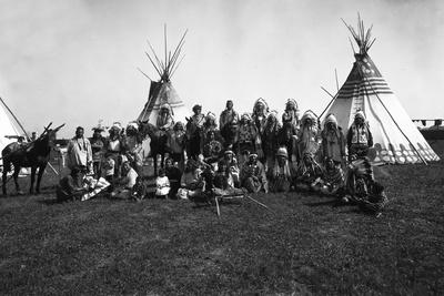 The Blackfeet Indians Photographic Print