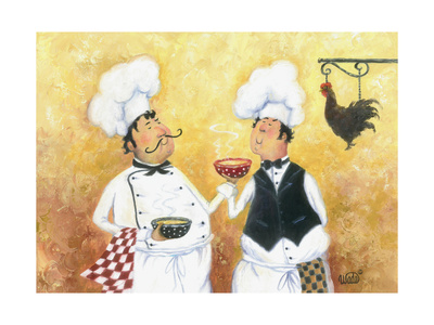 Chicken Soup Chefs Prints by Vickie Wade