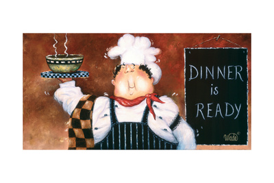 Soup Chef Prints by Vickie Wade