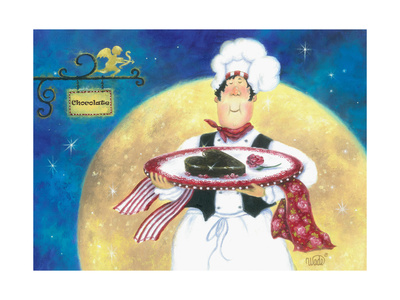 Chocolate Chef Poster by Vickie Wade