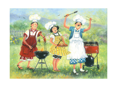Bbq Chefs Posters by Vickie Wade