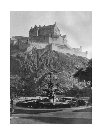 The Castle and Ross Fountain, Edinburgh, 1924-1926 Giclee Print by Alfred Hind Robinson