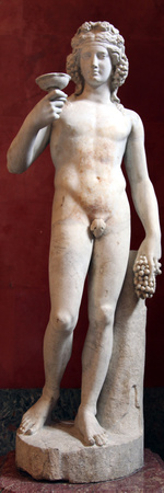 Statue of Dionysus, God of Wine and Patron of Wine Making Photographic Print