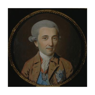 Portrait of Prince Nikolay Ivanovich Saltykov (1736-181), 1780s Giclee Print by Johann Heinrich Schmidt