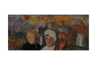 Peasant Land (From the Series Visages De Russi), 1917 Giclee Print by Boris Dmitryevich Grigoriev