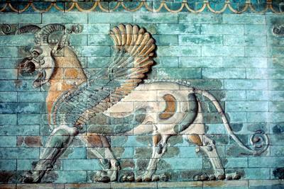 Griffin-Lion Relief in Glazed Brickwork, Achaemenid Period, Ancient Persia, 530-330 Bc Photographic Print