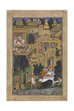 The Lord Krishna in the Golden City, Ca 1586 Giclee Print by Kesav Kalan