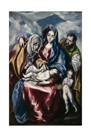 The Holy Family with Saint Anne and John the Baptist as Child, Ca. 1600 Giclee Print by  El Greco