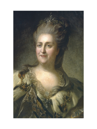 Portrait of Empress Catherine II (1729-179), 1779 Giclee Print by Fyodor Stepanovich Rokotov