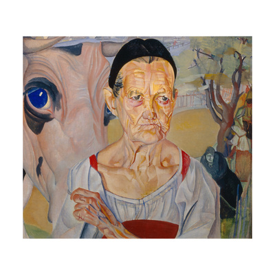 Dairywoman (From the Cycle Les Visages De Russi), 1917 Giclee Print by Boris Dmitryevich Grigoriev