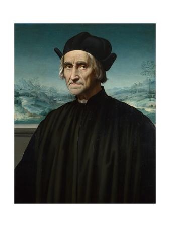 Portrait of Girolamo Benivieni (1453-154), Between 1515 and 1520 Giclee Print by Ridolfo Ghirlandaio