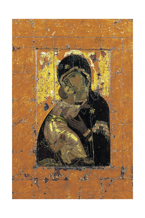 The Virgin of Vladimir, Byzantine Icon, Early 12th Century Lámina giclée