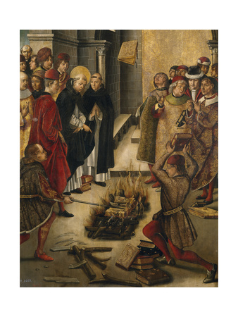 The Disputation Between Saint Dominic and the Albigensians, 1493-1499 Giclée-tryk af Pedro Berruguete