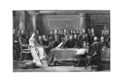 Queen Victoria's First Council, C1837 Giclee Print by David Wilkie