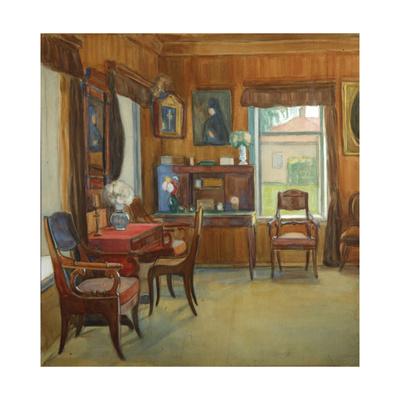 Interior in the House in Chegodayevo Village, 1900s Giclee Print by Olga Nikolayevna Korovina