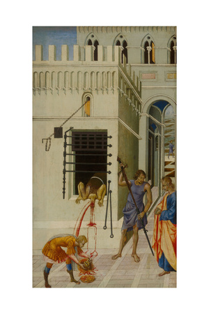 The Beheading of Saint John the Baptist, 1455-1460 Giclée-tryk af Giovanni di Paolo
