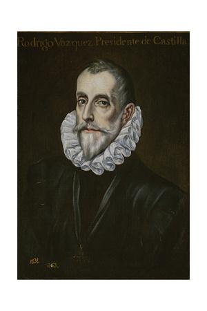 Portrait of Rodrigo Vázquez De Arce, First Third of 17th C Giclee Print by  El Greco