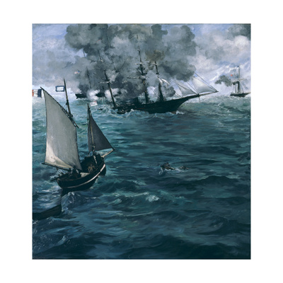 The Battle of the Kearsarge and the Alabama, 1864 Giclee Print by Édouard Manet