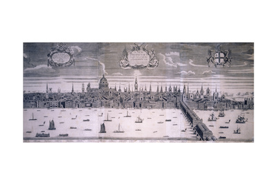 City of London, C1710 Giclee Print by James Walker