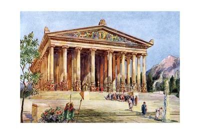 The Temple of Artemis, Ephesus, Turkey, 1933-1934 Giclee Print by William Harold Oakley