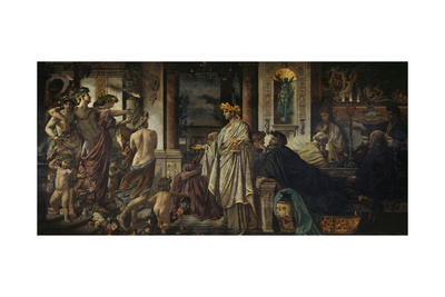 The Symposium (Second Versio), Ca 1871-1874 Giclee Print by Anselm Feuerbach