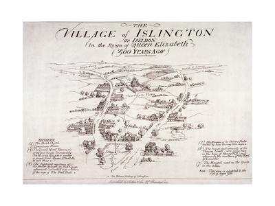 Islington, London, C1860 Giclee Print
