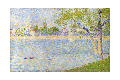 The Seine Seen from La Grande Jatte, 1888 Giclee Print by Georges Seurat