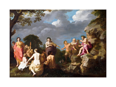 The Musical Contest Between Apollo and Marsyas, 1630 Giclee Print by Cornelis van Poelenburgh