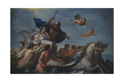 Triumph of Neptune and Amphitrite Giclee Print by Paolo de Matteis