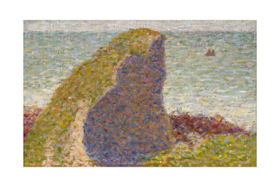 Le Bec Du Hoc, Grandcamp (Stud), 1885 Giclee Print by Georges Seurat