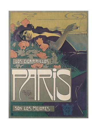 Los Cigarillos Paris, 1901 Giclee Print by Aleardo Villa