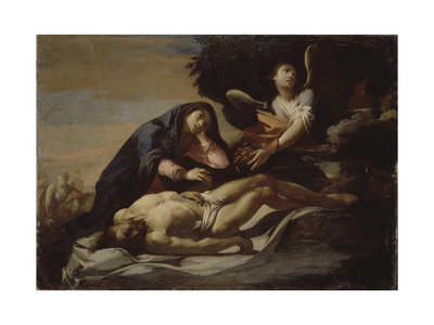 The Lamentation over Christ, Mid of 17th C Giclee Print by Massimo Stanzione