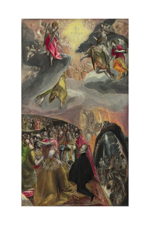The Adoration of the Name of Jesus, 1570s Giclee Print by  El Greco