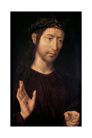 The Man of Sorrows Blessing, 1480-1490 Giclee Print by Hans Memling