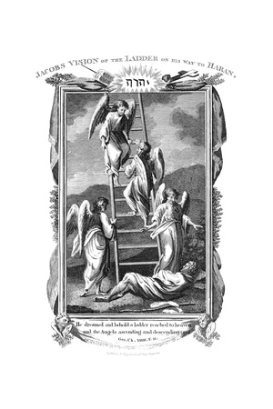 Jacob's Dream of Angels Ascending and Descending the Ladder to Heaven, C1808 Giclee Print