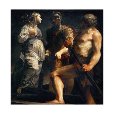 Aeneas, Sibyl and Charon, Ca. 1695 Giclee Print by Giuseppe Maria Crespi