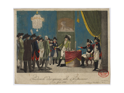 Frederick the Great as Freemason in 1740 Giclee Print