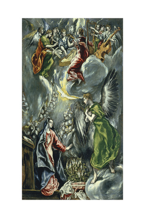 The Annunciation, Ca 1596-1600 Giclee Print by  El Greco