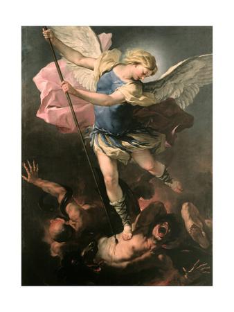 Saint Michael the Archangel, Ca 1663 Giclee Print by Luca Giordano
