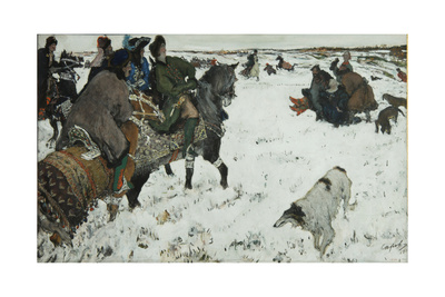Peter I on the Hunt, 1902 Giclee Print by Valentin Alexandrovich Serov