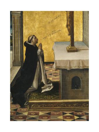 Saint Peter Martyr at Prayer, 1493-1499 Giclée-tryk af Pedro Berruguete