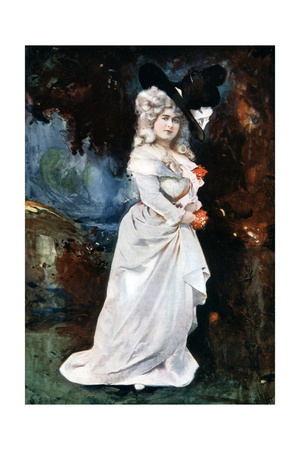 Connie Ediss in the Silver Slipper, C1902 Giclee Print by  Ellis & Walery