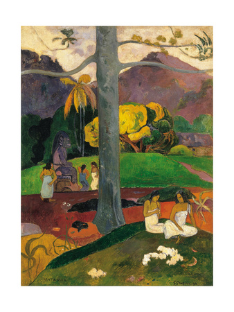 Mata Mua (In Olden Time), 1892 Giclee Print by Paul Gauguin